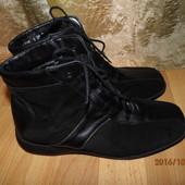 (№і128)фирменные кожаные зимние ботинки 40 р uk 7 Waldlaufer