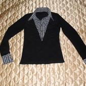 Кофта блуза с воротником. Размер 42-44