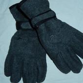 Теплющие флисовые перчатки на Thinsulate,р-р М
