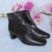 38,5 Clarks Натуральные кожаные полусапоги ботинки