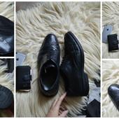Кожаные туфли-броги, Clarks ,р-р 46