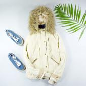 XS-S Bershka куртка-парка с мехом на утеплителе!  shaf 0096