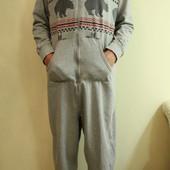 Мужская пижама утепленная домашний костюм на высокого , размер L- XL,