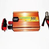 Преобразователь напряжения 12-220v ukc 500w gold