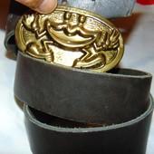 Фирменный стильный кожаный ремень пояс .Унисекс .95