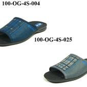 100-OG-4S  Тапочки мужские домашние Inblu цвет - см фото, материал - велюр, р-ры 40-46