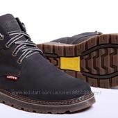 Ботинки мужские кожаные Levis Winter Nubuck - реплика