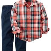Комплект для мальчика: рубашка+брюки Картерс 18мес,24мес,2т Carters