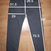мужские штаны джинсы р 34/30 замеры на фото