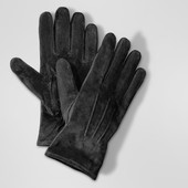 Замшевые перчатки Tchibo 8,5р.