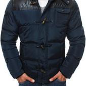 Зимняя куртка с капюшоном мужская
