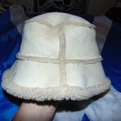 Фирменная стильная  теплая шапка панама зимняя Уніскес .