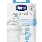 Бутылочка Chicco Natural Feeling 0+  4+ 6+ месяцев