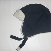 шапка ушанка на травке на 5-8 лет