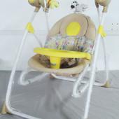 Колиска-гойдалка для новонароджених 3в1 BT-SC-0005, жовтий колір
