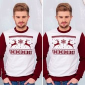 Різдв'яний теплий светр з вишивкою