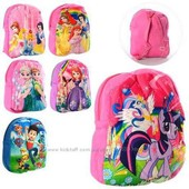 Рюкзак плюшевый Ледяное сердце, застежка-молния Е12421.Цена 75грн.