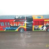 Большой инерционный автобус.Размер 54*9*7 см.