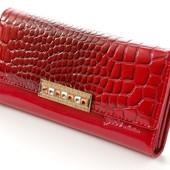 Женский кожаный кошелек GESI лаковый В наличии разные модели