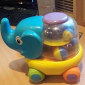 Каталка Fun Time слоник Элли на веревочке от 1 года