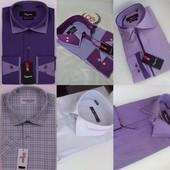 Супер-цена!18шт.Рубашки для больших и маленьких мужчин)) Приталенные  и класика, s-2xl, ворот 38-46.
