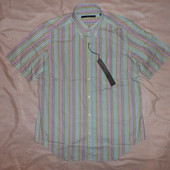Рубашка Ungaro, разноцветная полоска, короткий рукав, р.М, ворот 40