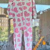 Флисовая пижама. ромпер Matalan для девочки 4-5 лет ( 104 -110)