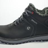 Ботинки Ecco на меху, натур кожа.
