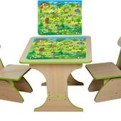 Игровой столик растущий +2 стульчика, Игра. Финекс