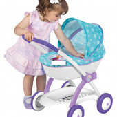 Коляска Smoby Toys Фроузен с люлькой и корзиной (254146)