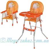 Детский стульчик для кормления трансформер 2в1 Bambi: 94х47х65см