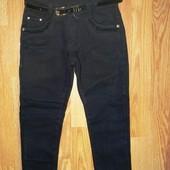Коттоновые утепленные брюки для девочек. Школьная модель. Фирма Seagull, Венгрия. Размеры 134-164