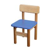 Детский стульчик деревянный цветной, Финекс (Синий)