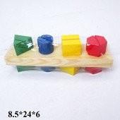 Деревянная обучающая игрушка Геометрия W02-1973/02-1 дерево
