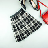 XS-S Atmosphere теплая юбка со вставкмаи кожзама из новых коллекций!0300