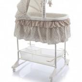 Детская кроватка - колыбель Baby Point Regina 3в1 (flower) беж