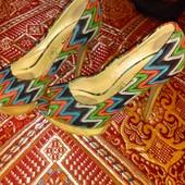 Летние туфли текстиль