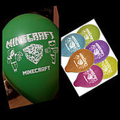 """Воздушные шарики пастель шелкография Майнкрафт 10"""" (25 см) 10шт/уп.."""