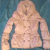 Демисезонная, зимняя женская куртка Orsay. Серебро M-L