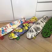 Лонгборд 27 дюймов с принтами пенниборд скейт
