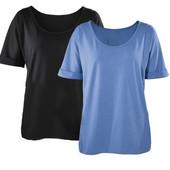 Набор 2 женские футболки, черная и голубая р.XL Esmara Германия
