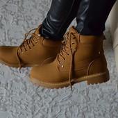Зимние ботинки, реплика Тимберленд, внутри мех.