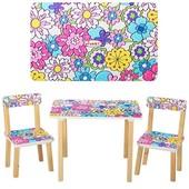 Деревянный стол с двумя стульчиками Vivast 501,много расцветок