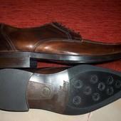 Кожаные фирменные мужские туфли Италия 41-41.5 р