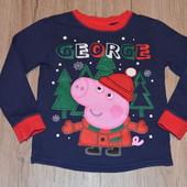 Новогодний реглан с Джорджем (Свинка Пеппа) 2-3 года