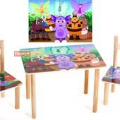 Набор из стола и двух стульчиков «Лунтик», Финекс Артикул: 0-63