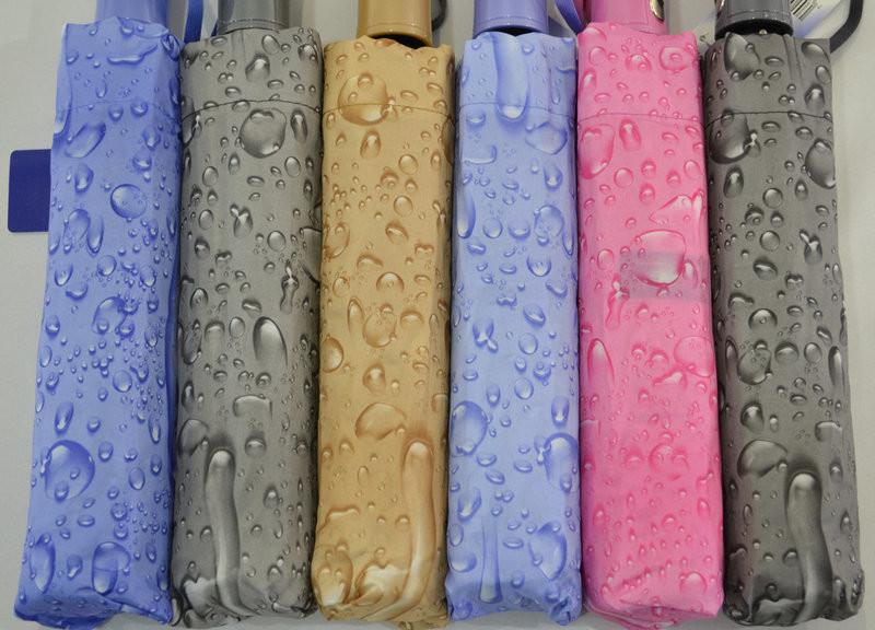 Качественный женский зонт полуавтомат капли дождя антиветер 10 спиц карбон фото №1