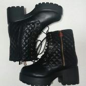 ботильоны ботинки зима на тракторной подошве р 38 от Vices