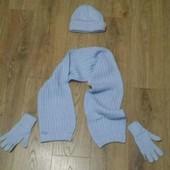 Шапка, шарф и перчатки (комплект)