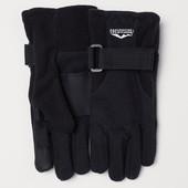 Перчатки черные непродуваемые H&M мальчику 7-9 лет